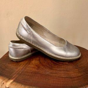 Dr. Marten Silver ELLEN Slip on Ballet Flats 8